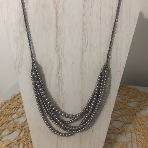 J Crew faux gray pearl necklace